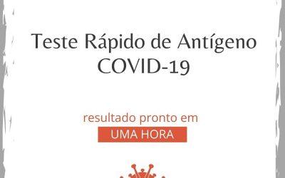 Teste rápido Antígeno para COVID-19